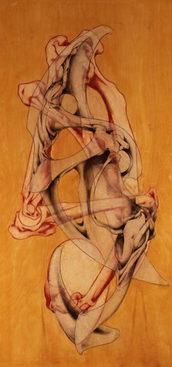Scott Nicol - graphite conte beeswax vellum on birch