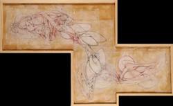 Scott Nicol - untitled-  graphite conte beeswax on vellum - 24'' X 45''