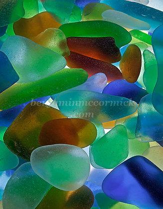 Backlit Beach Glass