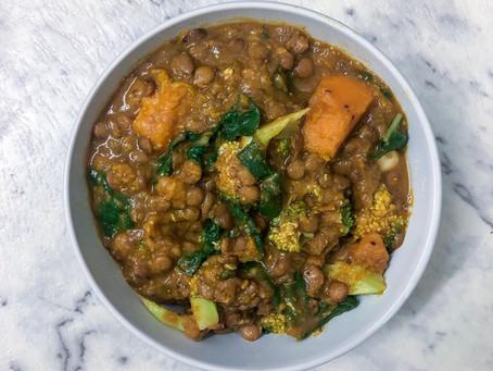 RECIPE: Pumpkin & Spinach Lentil Dhal
