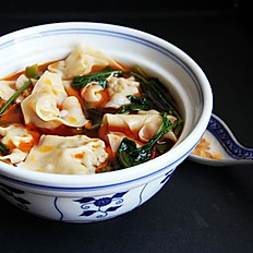 HAND-FOLDED SPICY WANTONS (10)