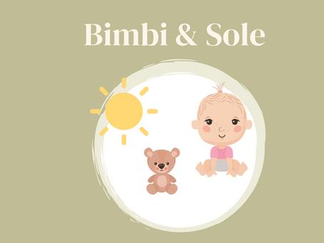 Esposizione dei neonati e dei bambini al sole: solari e prodotti