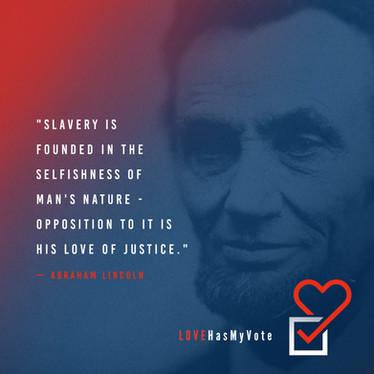 Love Has My Vote - Abe