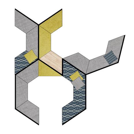 Hexagonal Custom Shape Banquette Designs