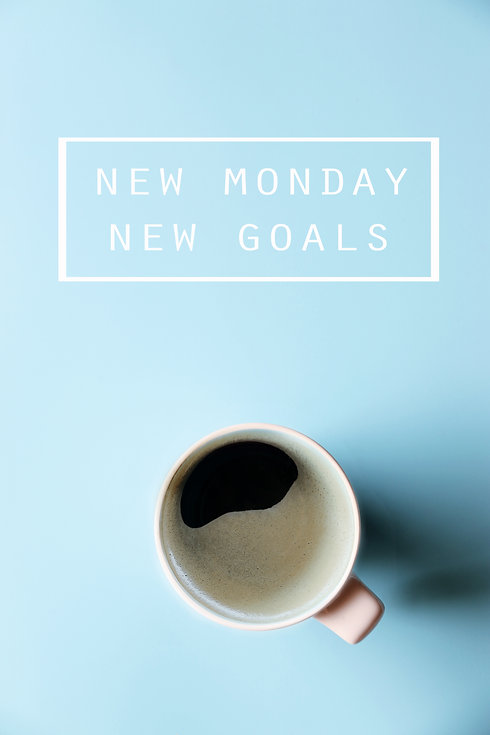 NEW MONDAY NEW GOALS Concept and Morning