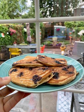 Ontbijt kwark-pannenkoekjes