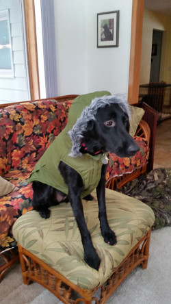 Willow in her parka