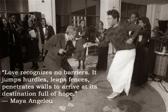 I met her once. Powerful. Inspired. Determined. Fly free, Maya Angelou.