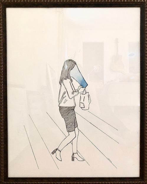 walking w/smartphone