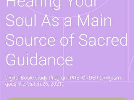 Soul Compass: Book and Personal Learning Program Launching Friday!