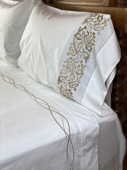Sferra embroidered cotton percale sheets