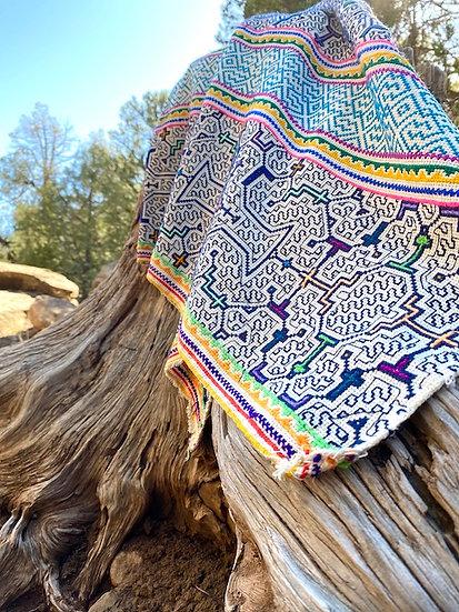 Handmade Shipibo Conibo weaving from Amazon