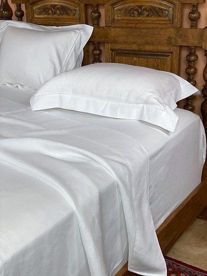 Libeco Classic white linen sheets