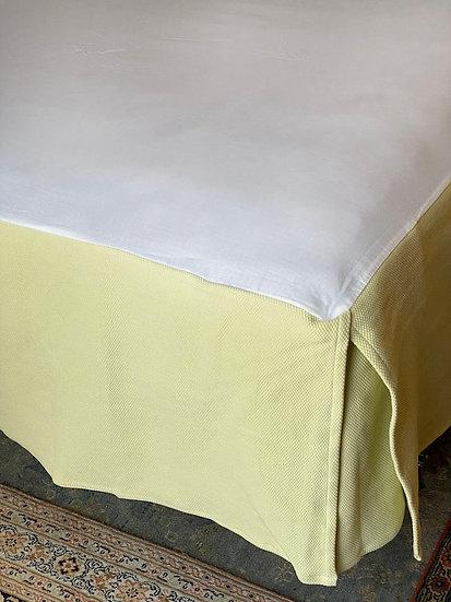 King Matelassé cotton bed skirt
