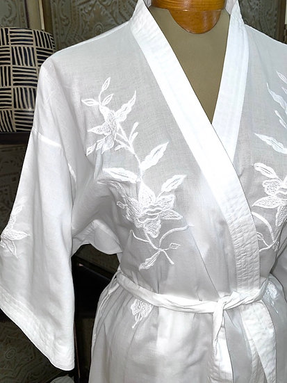 Light weight 100% cotton robes from India, perfect for the beach!