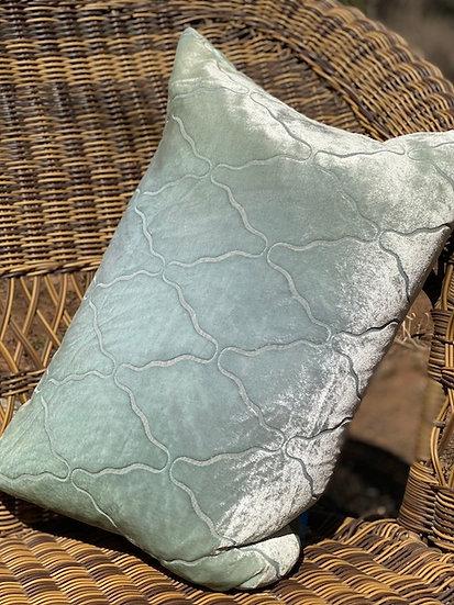 Arches Ice velvet pillow