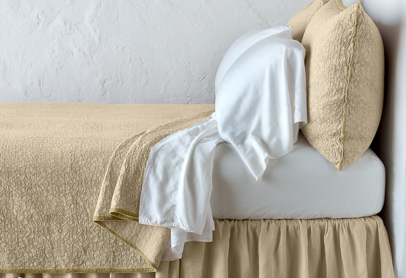Bella Notte Vienna Coverlet with silk velvet edge
