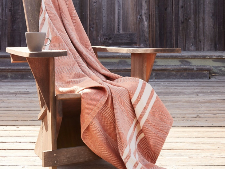 Coyuchi Cirrus organic cotton throws (many colors)