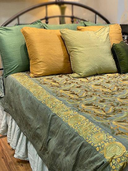 Praneet Bedi embroidered silk coverlet