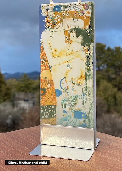 Handmade candles of famous paintings