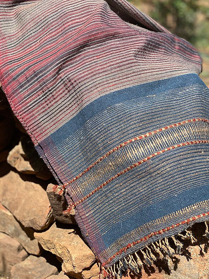 Tussar cotton/silk throws/scarves from Kutch
