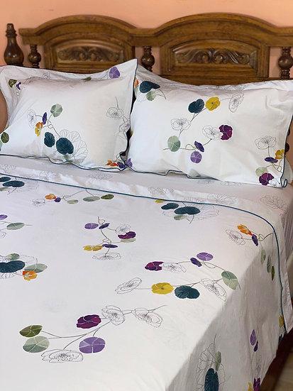 Yves Delorme Pavot cotton percale sheets (queen)