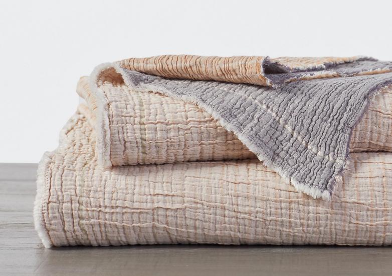 Coyuchi Topanga Warm organic cotton blanket/coverlet