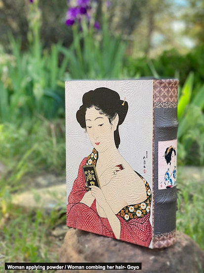 Handmade book boxes of famous paintings
