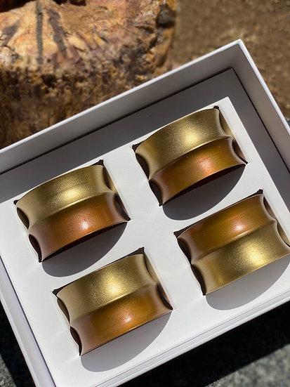 Sferra handmade napkin ring set (4)