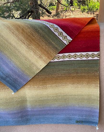 "Sergio Martinez rug ""Santa Fe Sunset"" (4.2'x6.5')"