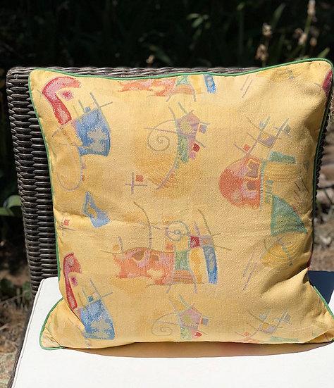 Barkcloth pillow covers