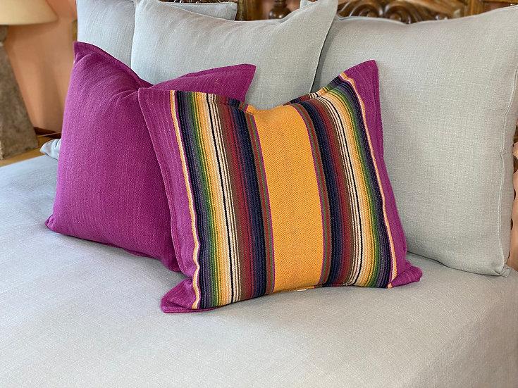 "Sergio Martinez merino wool ""Bugambilia y sol"" pillows"
