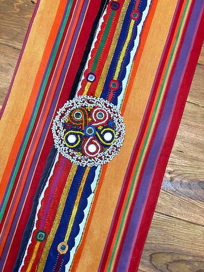 """Runner made with Guatemalan textile 11""""x36"""""""
