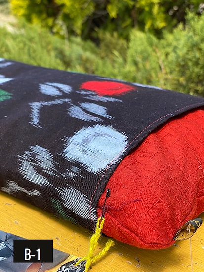 Organic Japanese fabric encasing buckwheat hulls (many colors)