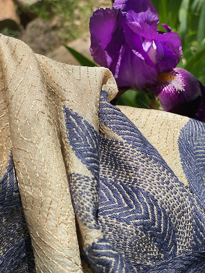 Hand-stitched  decorative throw from India