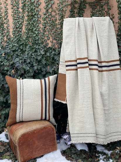 Libeco Foundry linen and wool throw