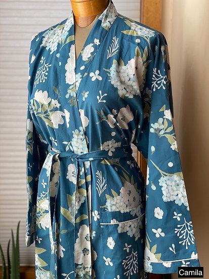 Long Indian lightweight cotton robes