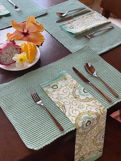 Cotton jewel green napkin set (4)