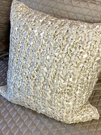 Ann Gish luxurious ribbon hand knit pillows