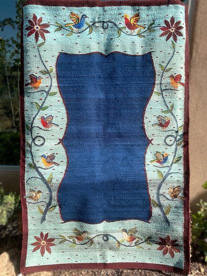 "Sergio Martinez rug ""Birds"" (4.4'x6.5')"
