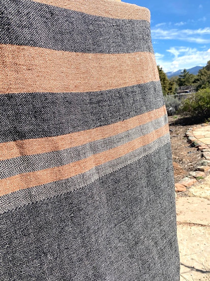 Libeco Belgian Black Stripe towel/throw