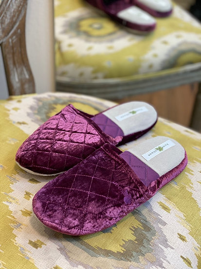 Limited edition Kumi Kookoon velvet slippers