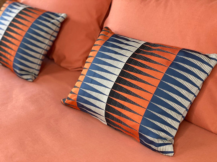 """Margo Selby """"Blaze UPH"""" pillows"""
