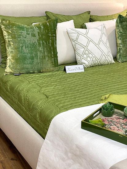 Reversible silk King quilt from Vietnam