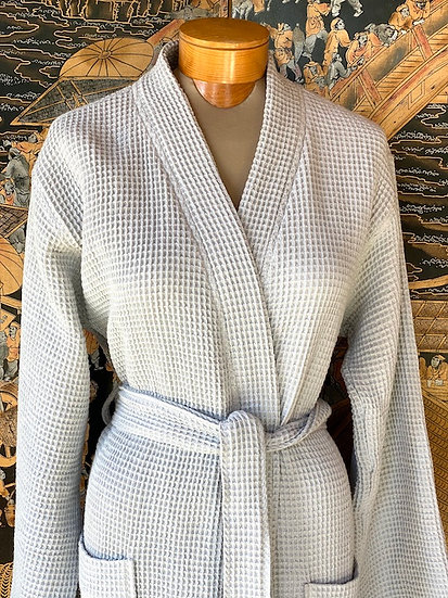 Coyuchi unisex organic waffle robes (many colors)