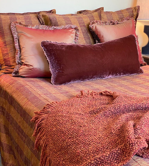 Fine tussah silk king coverlet set