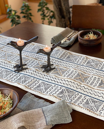 Cotton Mudcloth Printed Table Runner