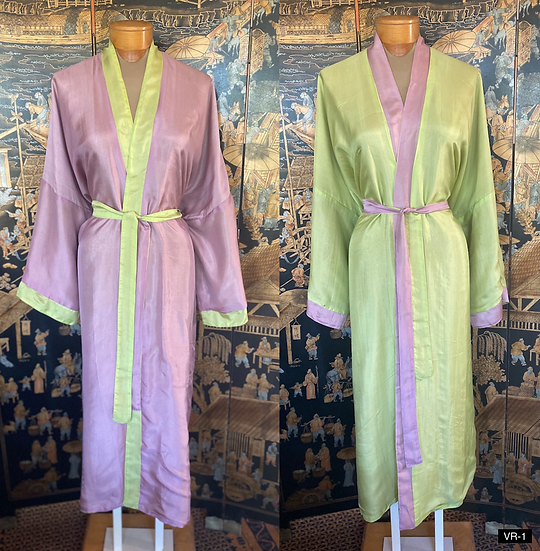 Vietnamese reversible silk robes (many colors)