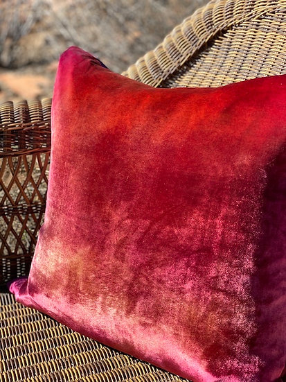 Ombre velvet Wildberry pillows