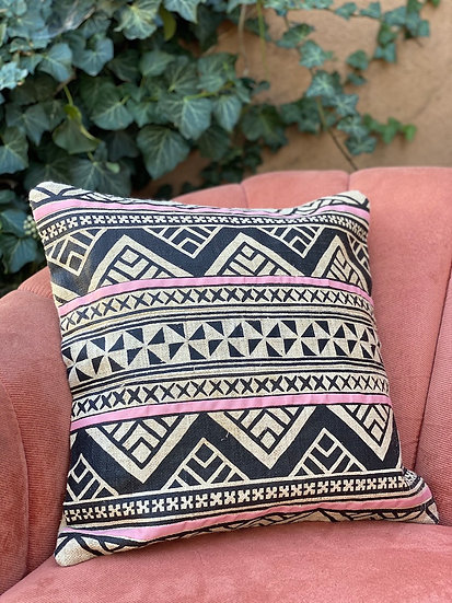 Hand painted hemp pillows from Laos
